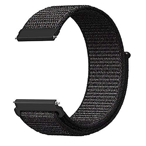 Pulseira extra para Garmin Forerunner 245/645 Music/Vivomove/Vivomove HR and Active 3 - Nandos-Store (Preto nylon)