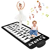 M SANMERSEN Kids Piano Mat,Musical Keyboard Playmat Large Size 55.5' X 27.6'Electronic Music Play Blanket Dance Mat with 20 Demo & 8 Instruments Music Education Toys Gift for Boys Girls Children
