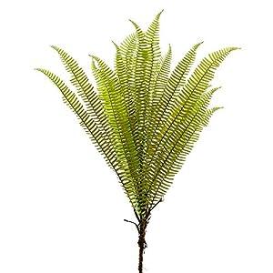 "Silk Flower Arrangements 44"" Silk Leather Fern Stem -Green (Pack of 12)"