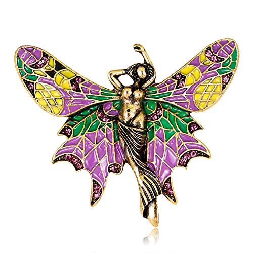 Broche de elfo Nueva moda Broche de mariposa de sirena salvaje Broche de mujer Accesorios de joyería