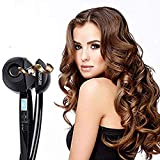 Automatic Rotating Spray Steamer Electric Hair Curler, Steam Ceramic Curling Wand with LCD