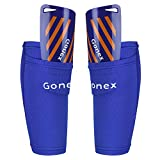 Gonex Soccer Shin Guards for Kids Adult, Youth Boys Girls Shin Guards Slip in Soccer Shin Pad Sleeves Canilleras for Football Games, EVA Cushion Protection Reduce Shocks & Injuries