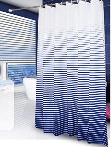 GYMNLJY Moderne minimalistische Stripe wasserdicht Duschvorhang verdicken Duschvorhänge Blackout Bad Dusche Rollo für Bad , 1 , 180*200