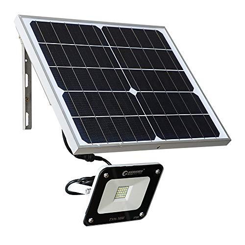 グッドグッズ(GOODGOODS) LED ソーラーライト 20W 投光器 屋外 防水 ライト ソーラー 昼光色 分離型 電池交換対応式 夜間自動点灯 TYH-16M