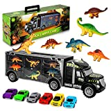 AOKESI Car Toys Transport Carrier Truck Dinosaur Toys for 3-12 Years Old Boys and Girls (Includes 6...