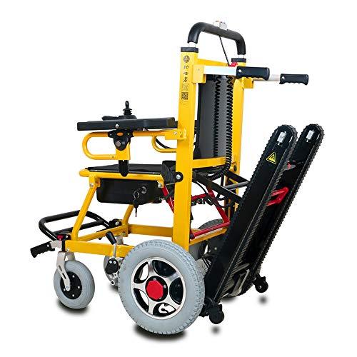 Fabio Elektrischer Rollstuhl, zusammenklappbar, leicht, Aluminiumlegierung, mit Rollstuhl für Treppen, Klettern, verstellbare multifunktionale Treppenhebestuhl, Tragkraft 160 kg