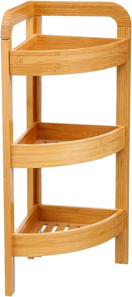 Genérico - Estantería esquinera (bambú, 3 estantes): Amazon ...