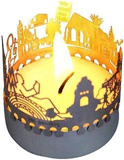 13gramm Leipzig-Skyline Windlicht Schattenspiel Souvenir, 3D