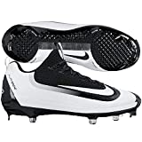 Nike Mens Air Huarache 2kfilth Elite Low Metal Cleats 12 US Black/White