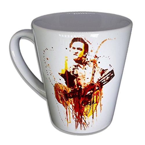 Johnny Cash - Handarbeit Designer Tasse aus brillanten Porzellan Unikat - Tasse, Becher, Kaffeetasse, Teetasse Keramik Tasse, 330ml, Geschenk für Freunde
