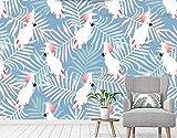 Tapete 3D Einfache Bananenblatt Papagei Moderne Wohnzimmer Schlafzimmer Großes Wandbild Wanddekoration-430cmx300cm Fototapete - Vlies - Wandsticker - Plakatdekoration