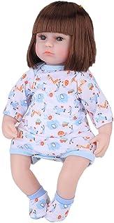 ビニール製ベビードール、ベビードール幼児教育機関向け (42cm rebirth doll car hair [model two] blue)