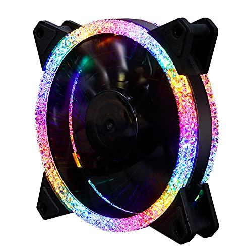 MagiDeal Ventiladores del Disipador de Calor del Ventilador del Refrigerador de La Computadora de Escritorio de 5V RGB - 6P External Control