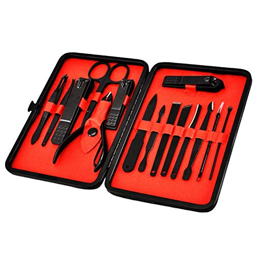 ensemble coupe ongles 15pcs/nail Clipper Set Stainless Steel Nail Art Scissors Grooming Kit Pedicure Manicure Tools
