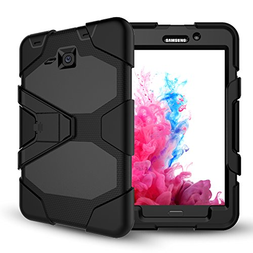 Samsung Galaxy Tab A 7.0 Case(SM-T280),Slim Heavy Duty Shockproof Rugged Case High Impact Resistant Defender Full Body Protective Cover with Screen Protector