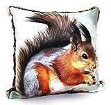 heimtexland  Kissenhülle Eichhörnchen 40x40 cm mit Fell - hochauflösender Digital-Fotodruck auf...