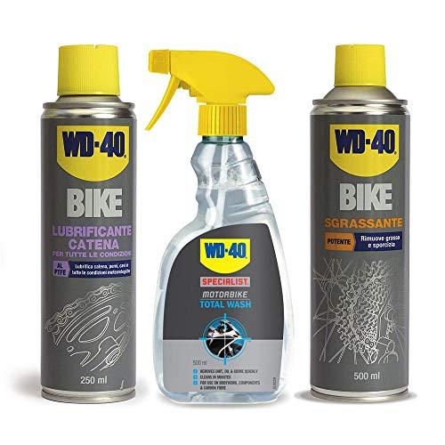 Kit WD40 per bici biciclette detergente + lubrificante catena + sgrassante