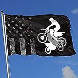 Elaine-Shop Bandiere da Esterno Usurate Bandiera USA Fuoristrada Motociclismo 4 * 6 Ft Bandiera per Decorazioni per la casa Appassionato di Sport Calcio Pallacanestro Baseball Hockey