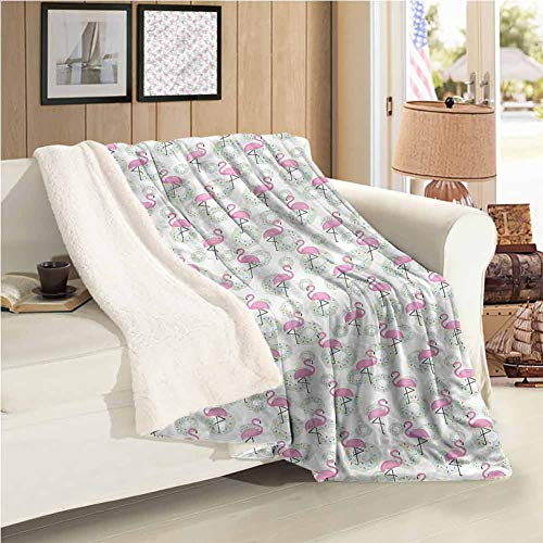 "Maureen Austin Flamingo Weighted Blanket Donuts Hawaii Animals Easy to Care 59""X31""Inch"