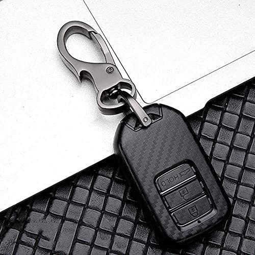 F-MINGNIAN-SPRING Funda para llave de coche, funda de llave de coche ABS, compatible con Honda Vezel City Civic BR-V HR-VCRV Pilot Accord Jazz Jade Crider Odyssey D (color: H)