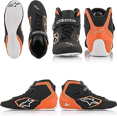 Black//Orange//White 3.5 Alpinestars Mens Tech 1-K Karting Shoe
