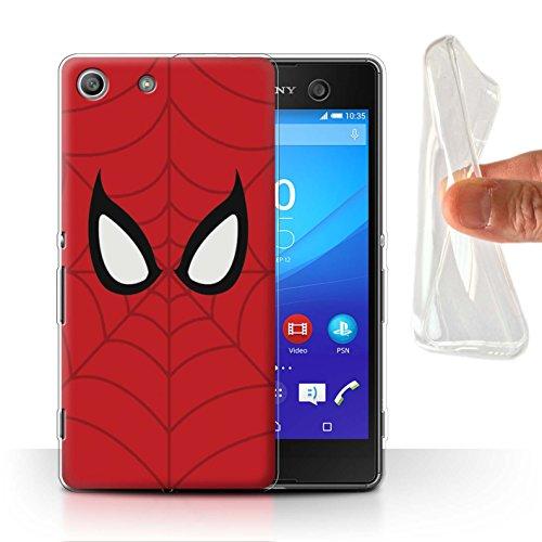 Hülle Für Sony Xperia M5 Superheld Comic-Kunst Spider-Man Maske Inspiriert Design Transparent Dünn Flexibel Silikon Gel/TPU Schutz Handyhülle Case