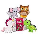 Happy Felties - Dreamland Buddies - Felt Animal Crafting Sewing Kit and Animal Crafts - Fun DIY Stuffed Animal Sew Kits for Kids Boys and Girls - Beginner Friendly