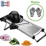 Tasty Health - Mandolina para cortar verduras, fácil de limpiar, resistente, calidad profesional