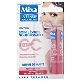 Mixa Intensif Peaux Sèches - Soin des Lèvres Nourrissant CC au Beurre de Karité Teinte Cerise - 4.7 ml - une pièce