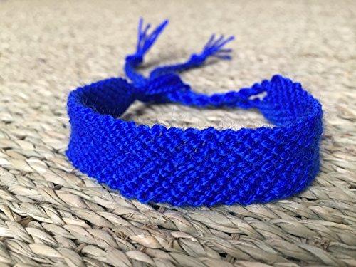 Pulseras de macramé azul, pulsera de hilo, Macramé bracelets blue
