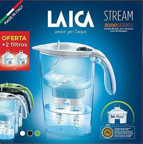 Laica Packs de Jarra Stream + 2 filtros, Verde, Pack
