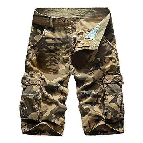 Pantalones Cortos De Niños Bermudas Carga Hombres Camuflaje Pantalones Mode De Marca...