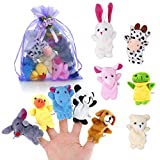 Pllieay 10 Stücke Finger Puppets Cloth Plush Doll Baby Educational Hand Cartoon Animal Toys