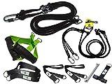 BodyCROSS Kit Suspension Trainer | Entrenador de suspensión con polea y Asas ergonómicas