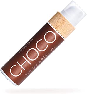 COCOSOLIS CHOCO Sun Tan & Body Oil | Organic Tanning Oil | Get Healthy Deep Chocolate Tan with the Help of Only Natural Cold-pressed Oils | 6 Precious Oils to Make Your Skin Glowing & Revitalized