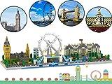 OneNext Londres Skyline Colección Modelo Arquitectura Bloques de construcción 1100pcs Nano Mini Bloques DIY Kit de Juguetes de Bricolaje Regalo para niños y Adultos