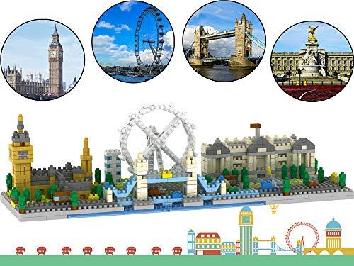 London Skyline Collection Modellarchitektur Baustein-Set 1100 Stück Nano-Mini-Blöcke DIY-Spielzeugset und Geschenke für Kinder und Erwachsene