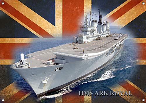 Fhdang Decor HMS Ark Royal, Metall Schild, 30,5x 45,7cm