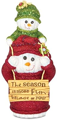 Pavilion Gift Company The Sockings 93037 Snowman Figurine, You and Me, 5-Inch