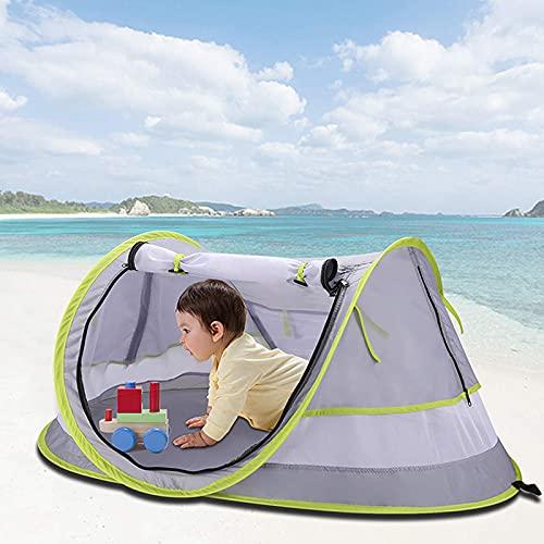 lefeindgdi Tienda de campaña de playa, tienda de campaña de playa, refugio con bolsa de almacenamiento, sin instalación, ligero, toldo para playa, cabana, tienda de campaña para niños y bebés
