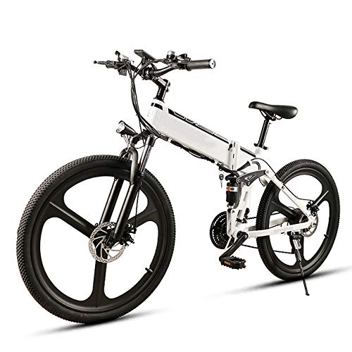 SHIJING 26 Pulgadas Plegable Energía Eléctrica Bicicleta de Asistencia eléctrica de Bicicletas...