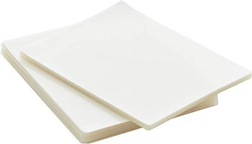Amazon Basics Clear Thermal Laminating Plastic Paper Laminator Sheets - 9 x 11.5-Inch, 200-Pack