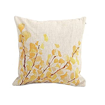 Createforlife Cotton Linen Decorative Throw Pillow Case Cushion Cover