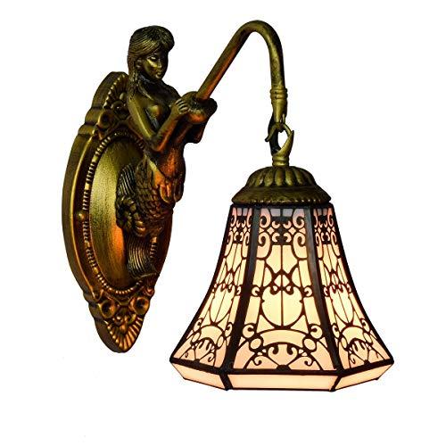 Handgemachte Tiffany Wandlampen-Licht 6-Zoll-britischer Retro-arabischer Stil Tiffany Glasmalerei Wohnzimmer Schlafzimmer Bar Gang Balkon Wandleuchte im Restaurant zu essen