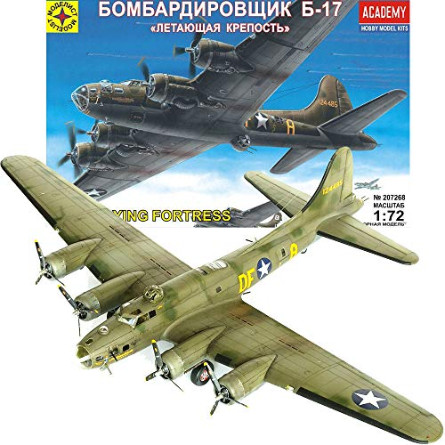 B17 Model Airplane Kit 1/72 Scale - Heavy Bomber B 17 Flying Fortress American WWII Aircraft - Russian Military Model Kits Airplane