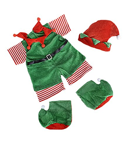 Christmas Elf with Hat, Scarf,and Boots Outfit Fits Most 8