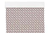 MERCURY TEXTIL Cortina para Puerta Tiras PVC 200x90cm,Cortina para Puerta Exterior,10 Color (Blanco+Filo Granate R6)