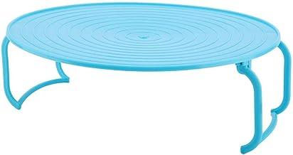 Multifuncional De Plástico Estufa De Horno De Microondas Calefacción En Vaporera En Rack Estante Bandeja De Cocina Estante Plegable Bandeja De Alimentos Herramienta De la Cocina(Rojo)