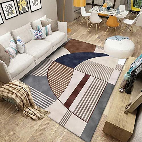 Teppich Pflegeleicht tepiche für Wohnzimmer Shaggy Kinderzimmer Carpet modern Design Home Boden Zuhause Dekoration/ins nordische Einfachheit Gesamtgröße: (B-140 cm x L-200 cm)
