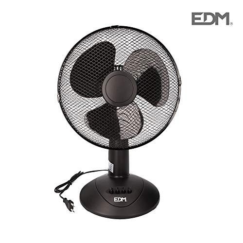 Oscillerende tafelventilator, 45 W, zwart Series EDM